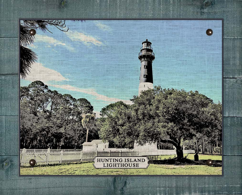 Hunting Island Lighthouse - On 100% Linen
