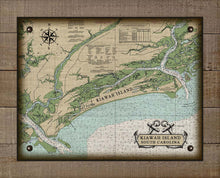 Load image into Gallery viewer, Kiawah Island South Carolina Nautical Chart - On 100% Natural Linen