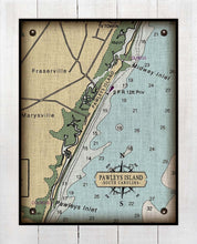 Load image into Gallery viewer, Pawleys Island South Carolina Nautical Chart - On 100% Natural Linen