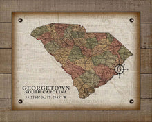 Load image into Gallery viewer, Georgetown South Carolina Vintage Design - On 100% Natural Linen