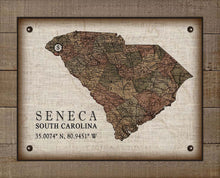 Load image into Gallery viewer, Seneca South Carolina Vintage Design - On 100% Natural Linen