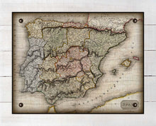 Load image into Gallery viewer, 1800s Spain Map - On 100% Natural Linen