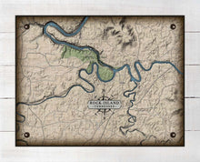 Load image into Gallery viewer, Rock Island Tennessee Map Design - On 100% Natural Linen