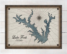 Load image into Gallery viewer, Lake Fork Texas Map Design - On 100% Natural Linen