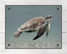 Load image into Gallery viewer, Sea Turtle - On 100% Natural Linen