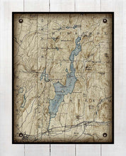 Load image into Gallery viewer, Lake Bomoseen Vermont Map Design - On 100% Natural Linen