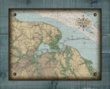 Load image into Gallery viewer, James River & Smithfield Virginia Nautical Chart - On 100% Natural Linen