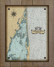 Load image into Gallery viewer, Sandbridge Beach Virginia Nautical Chart - On 100% Natural Linen