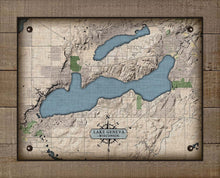 Load image into Gallery viewer, Lake Geneva Wisconsin Map Design - On 100% Natural Linen
