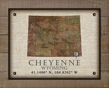 Load image into Gallery viewer, Cheyenne Wyoming Vintage Design - On 100% Natural Linen