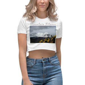 Open image in slideshow, Women's Mountain Fitness Sunflower Crop Top (Special Edition)