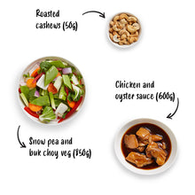 Load image into Gallery viewer, Chicken, Cashew & Snow Pea Stir Fry Kit 1.5kg