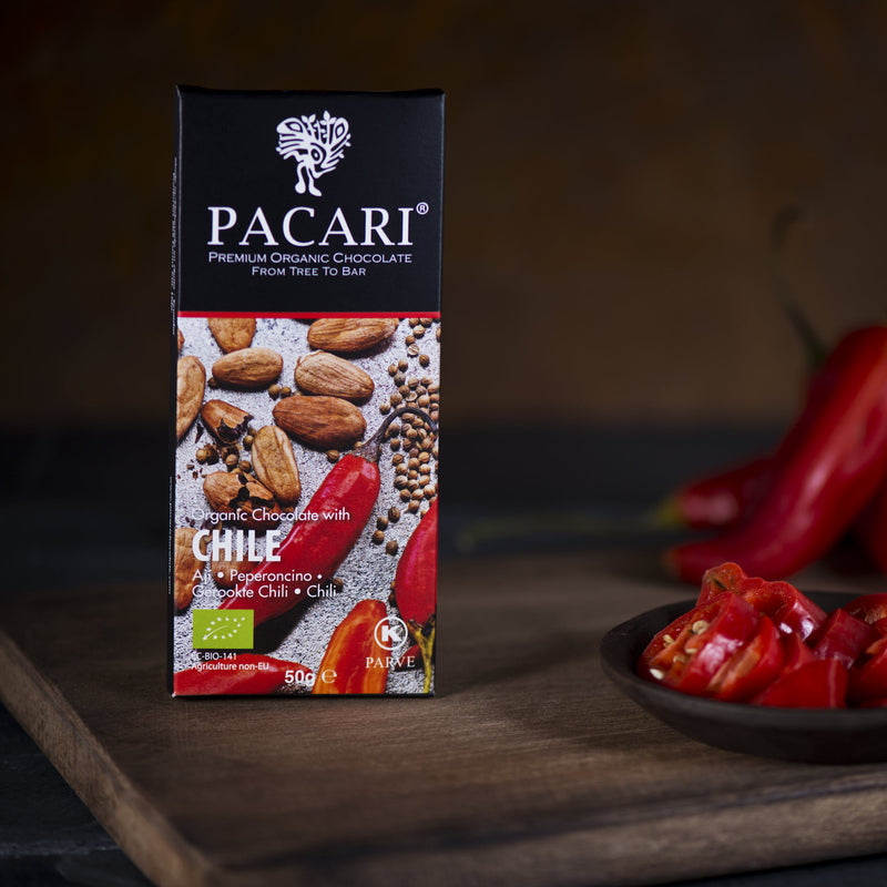Organic Chocolate Bar with Chili Pepper