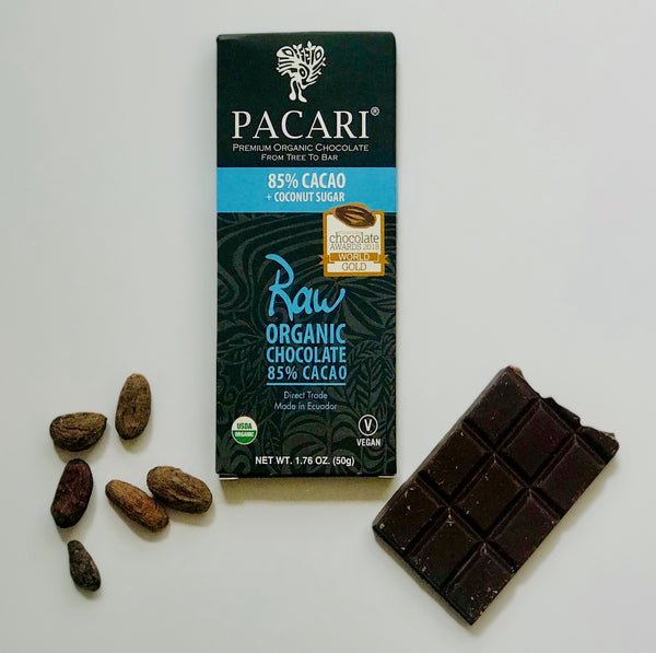 Organic Chocolate Bar 85% Raw + Coconut Sugar