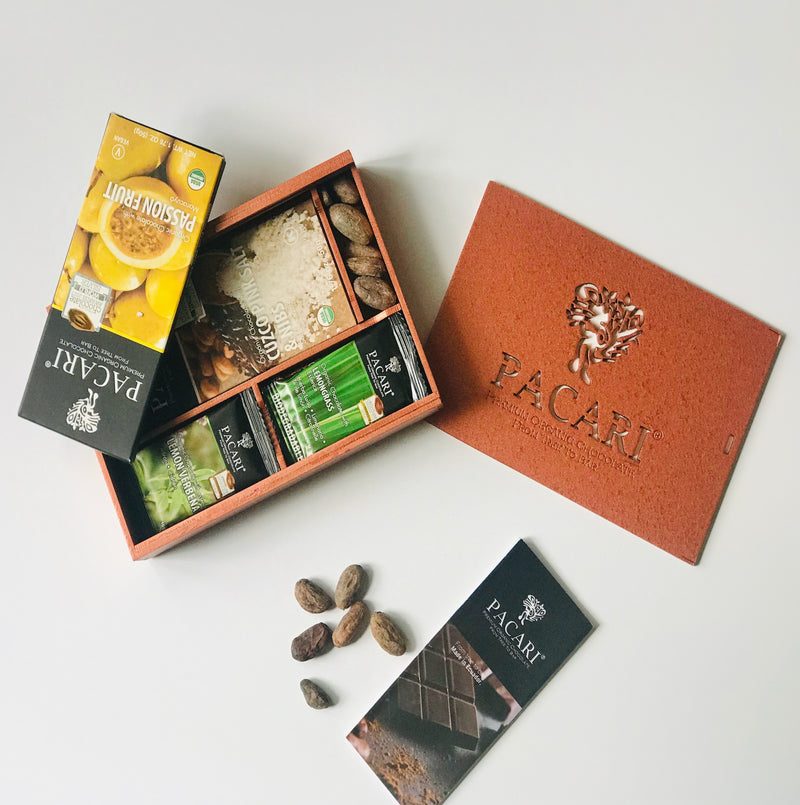 Wood Colored Gift Box - (2 bars and 6 mini-bars)