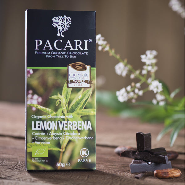 Lemon Verbena Organic Chocolate Bar 50 gr.