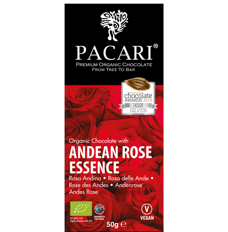Andean Rose Organic Chocolate Bar with 50 gr.