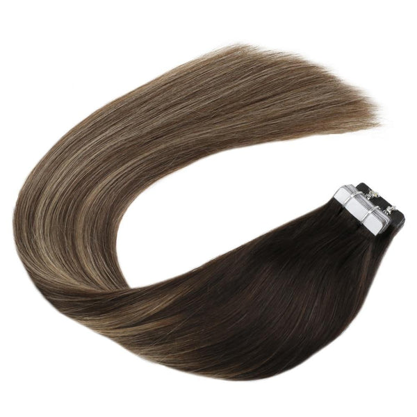 Human Hair Tape Extensions