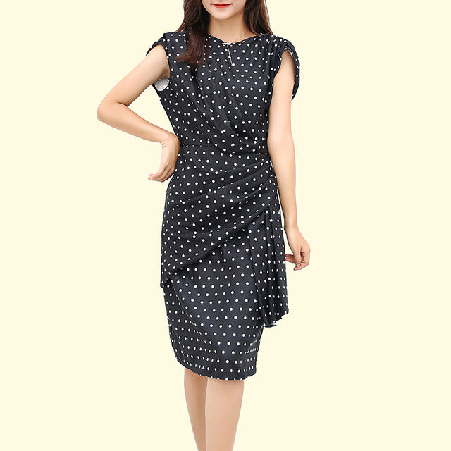 2020 Polka Dot Slim Cocktail Dress