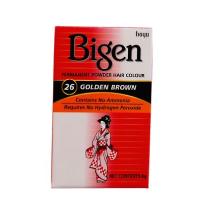 Bigen Hair Colour Golden Brown 26 Permanent Powder - Haarfarbe Goldbraun 6g - My Hair World
