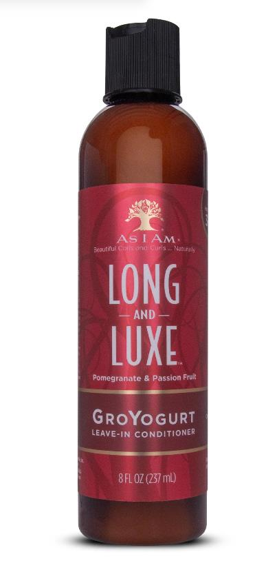 As I Am Long Luxe Pomegranate Passion Fruit GroYogurt Leave In Conditioner 237ml - My Hair World