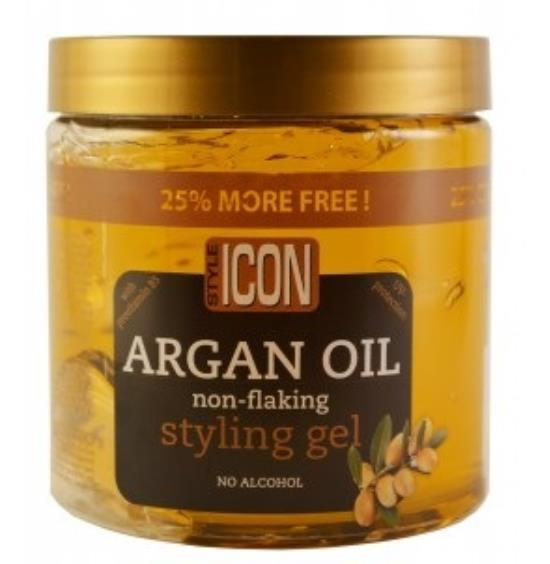 Style Icon Argan Oil Non-Flaking Styling Gel 525 ml (25% Bonus) - My Hair World