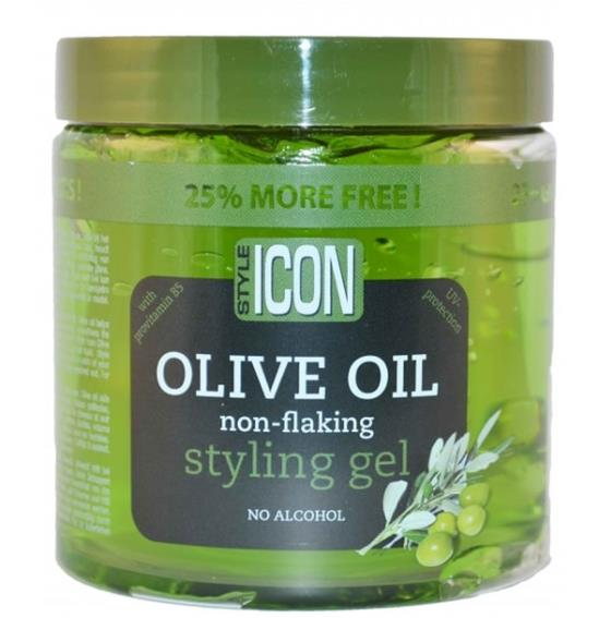 Style Icon Olive Oil Non-Flaking Styling Gel 525 ml (25% Bonus) - My Hair World