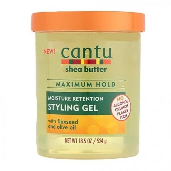 Cantu Shea Butter Maximum Hold Styling Gel Flaxseed & Olive Oil  524g 18.5oz - My Hair World