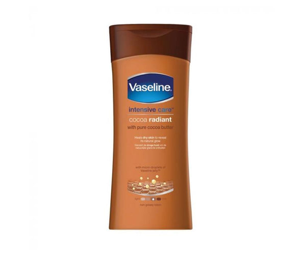 Vaseline Intensive Care Cocoa Radiant Body Lotion 400ml - My Hair World