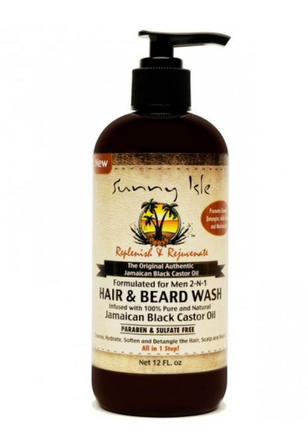 Sunny Isle Jamaican Black Castor Oil Hair & Beard Wash 12oz - My Hair World