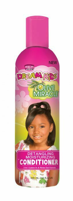 African Pride Dream Kids Olive Miracle Detangling Moisturizing Conditioner 355ml - My Hair World