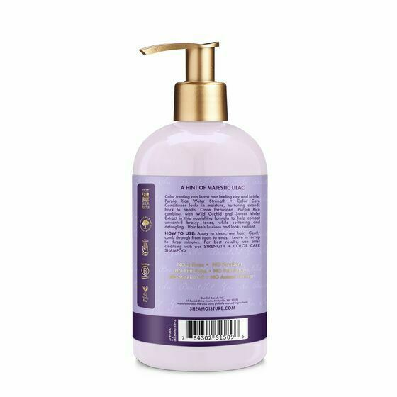 Shea Moisture Purple Rice Water Strength & Color Care Conditioner 370ml - My Hair World