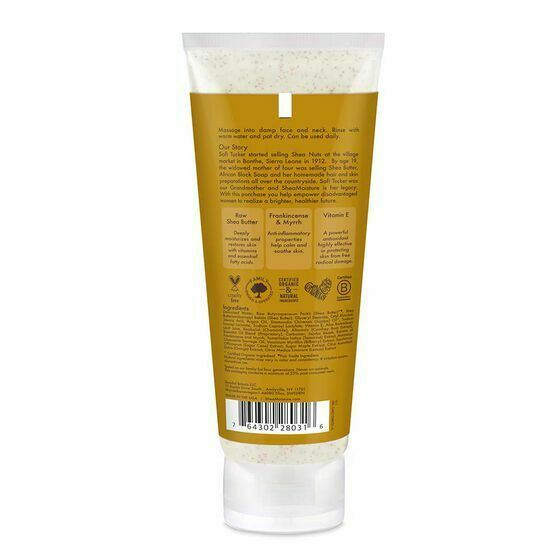 Shea Moisture Raw Shea Butter Facial Wash & Scrub 118ml - My Hair World
