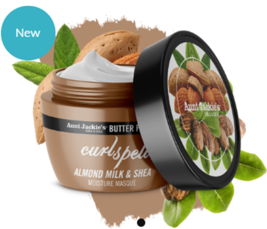 Aunt Jackie's CURL SPELL – Almond Milk and Shea Butter Moisture Masque 8oz 227g - My Hair World