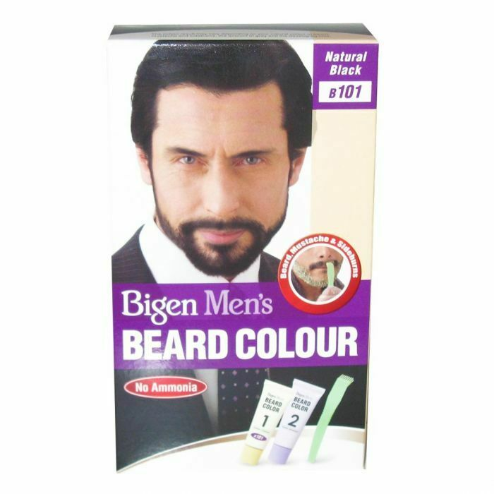 Bigen Men's Natural Black B101 Beard Color - Bartfarbe Schwarz - My Hair World