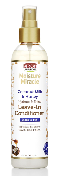 African Pride Moisture Miracle Coconut & Honey Leave-In Conditioner Spray 237ml - My Hair World