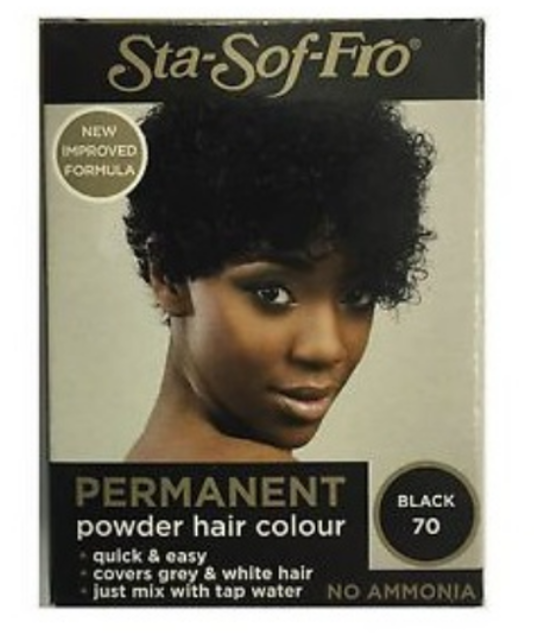 SSF Sta-Sof-Fro Hair Dye Powder 8g # 70 Black Haarfarbe - My Hair World