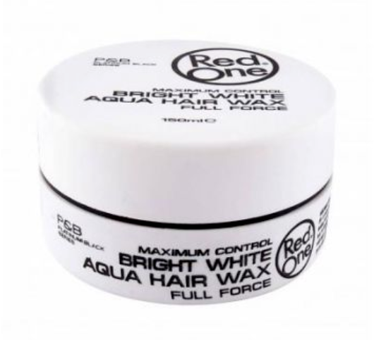 Red One Bright White Wax Maximum Control Aqua Hair Gel Wax 150ml Haarwachs - My Hair World
