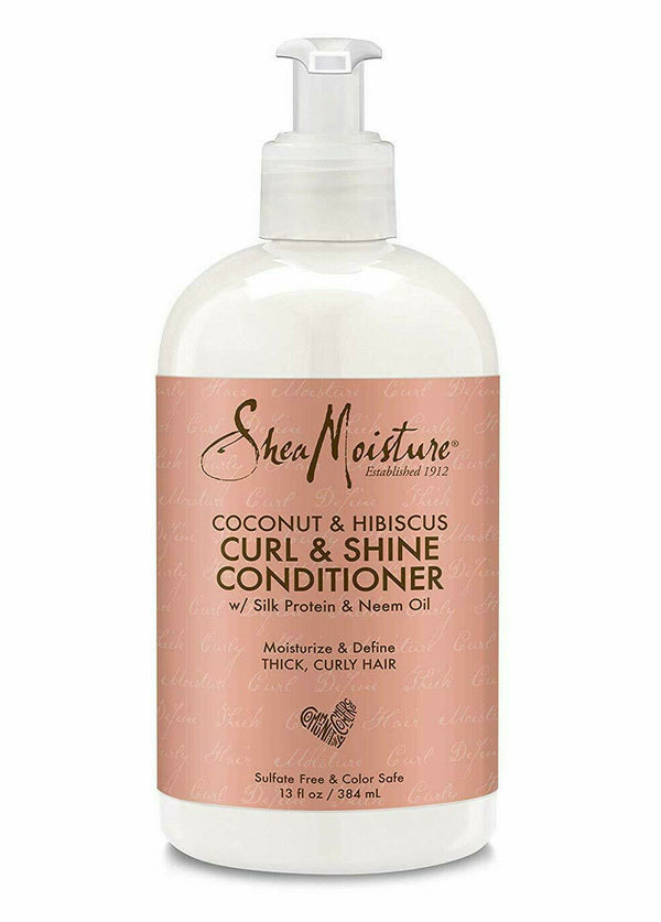 Shea Moisture Coconut Hibiscus Curl & Shine Conditioner-Haarspülung 384ml - My Hair World