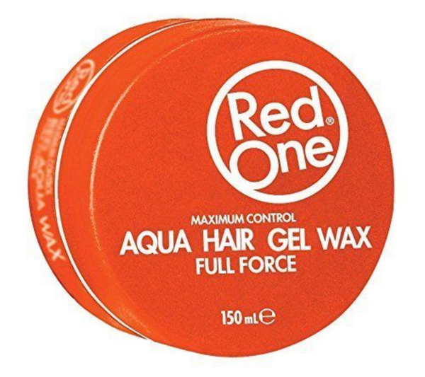 Red One Wax Maximum Control Aqua Hair Gel Wax Full Force Orange 150ml Haarwachs - My Hair World