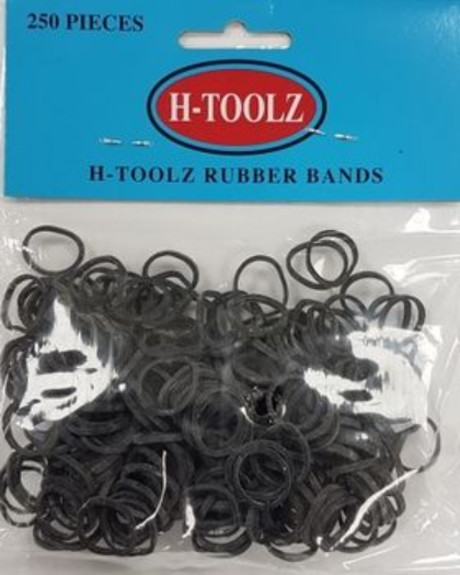 Rubberbands H-Toolz Schwarz 250 Pieces  - Haargummi - My Hair World