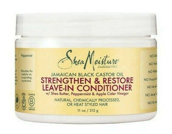Shea Moisture Jamaican Black Castor Strengthen Leave-In Conditioner 312g - My Hair World