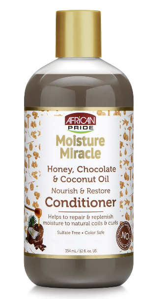 African Pride Moisture Miracle Honey Chocolate & Coconut Oil Conditioner 354ml - My Hair World