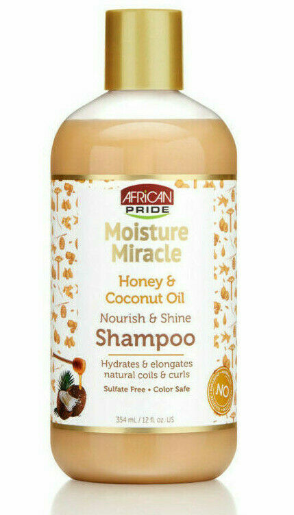 African Pride Moisture Miracle Honey & Coconut Oil Shampoo 354ml - My Hair World