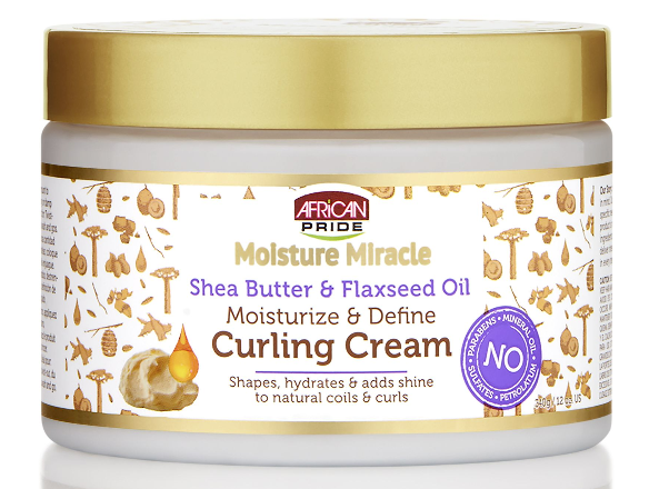 African Pride Moisture Miracle Shea Butter & Flaxseed Oil Curling Cream 340g - My Hair World