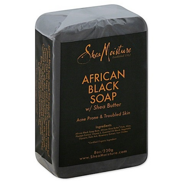 Shea Moisture African Black Soap Acne-Prone Face & Body 230g - SheaButter Seife - My Hair World