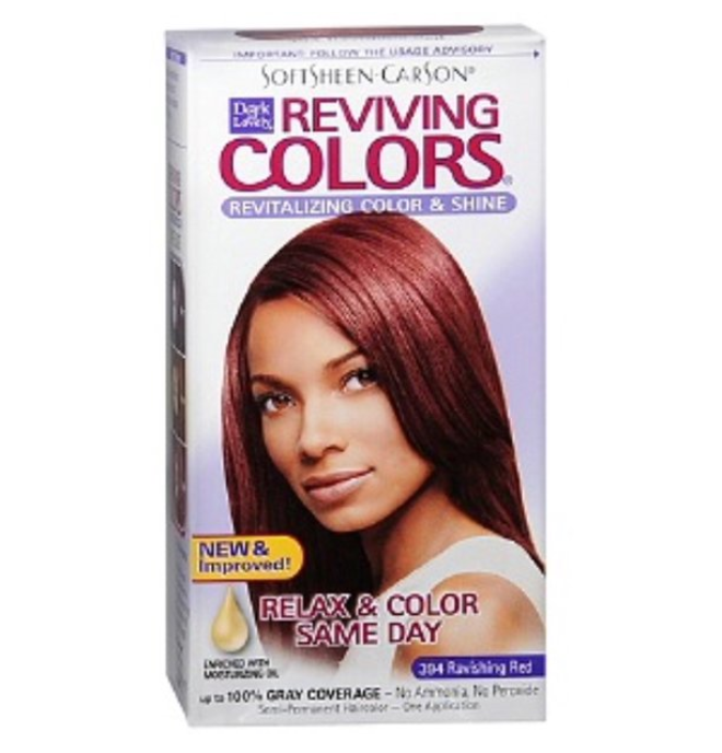 Dark & Lovely SoftSheen-Carson Nourishing Semi Permanent Reviving Hair Color #394 Ravishing Red - My Hair World