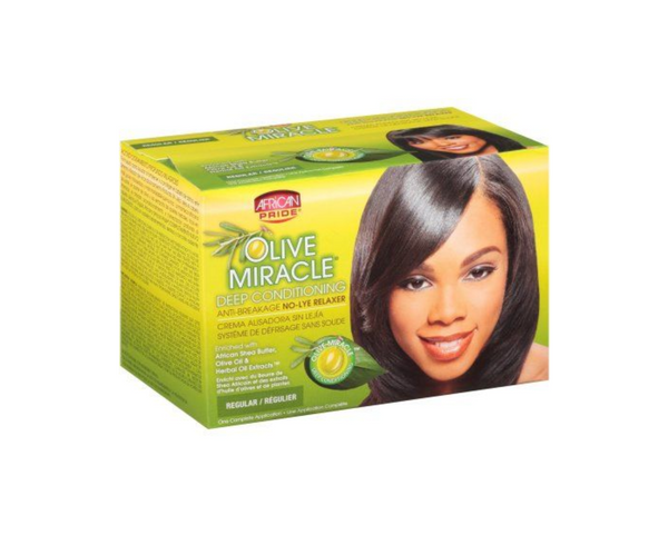 African Pride Olive Miracle Anti Breakage Relaxer Kit Regular - My Hair World