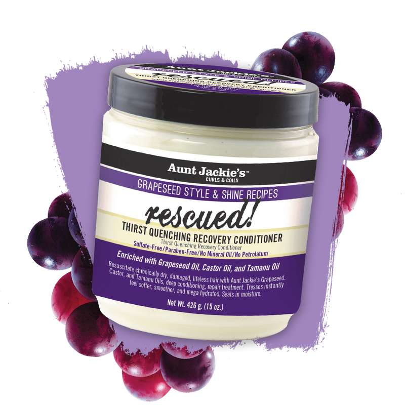 Aunt Jackie's Grapeseed  RESCUED Thirst Quenching RECOVERY CONDITIONER 426g - My Hair World