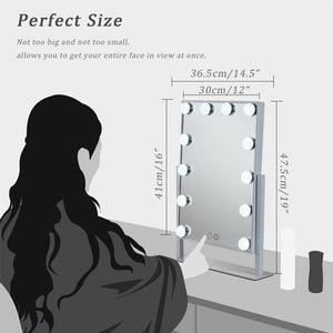 Vanity Mirror with 12 Dimmable LED Lights